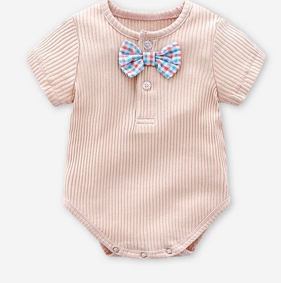 Bow Tie Romper (Up to 90cm)