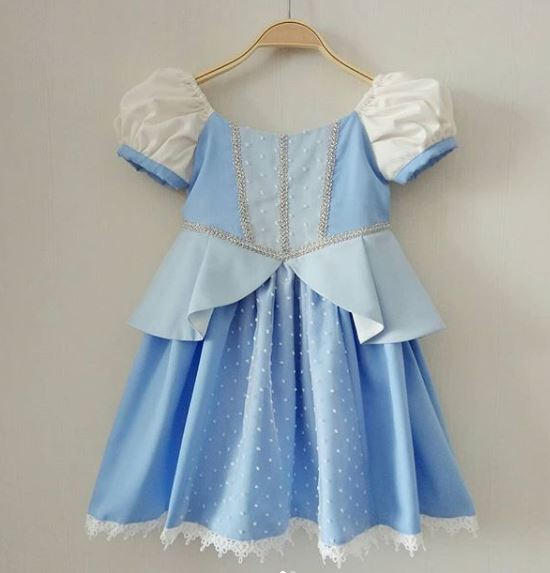 Enchanted Cinderella Play Dress (No Bow/ Inner Tulle)