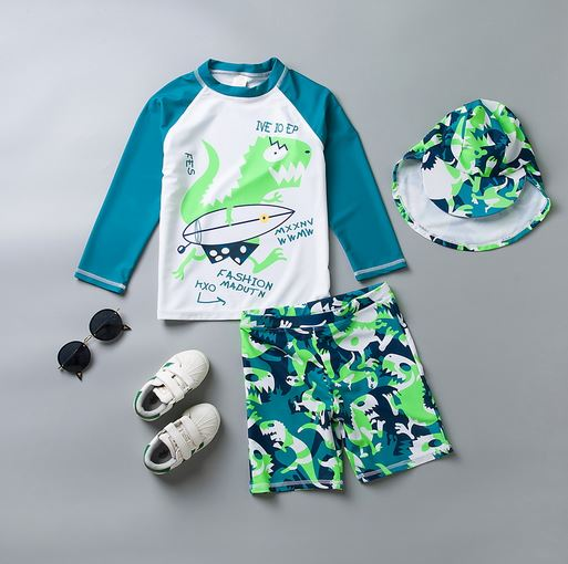 Dino Graffiti Rashguard Set (Up to 164cm)