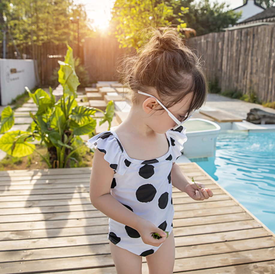 *NEW* Dottie Flutter Sleeves Swimsuit (Up to 130cm)