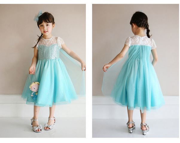 Elsa Lace Dress *Limited* - Short/ Long Sleeves (100-150cm)