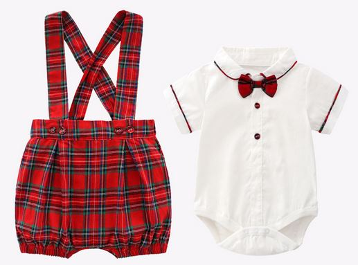 Emmanuel Bow Tie Romper + Shorts Set