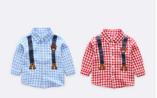 Gingham Bear - Blue/ Red (Up to 122cm)