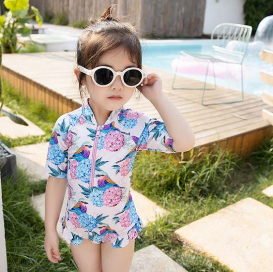 Hummingbird Sleeved Swimsuit (Up to 135cm)