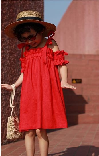 Mia Scarlet Twinning Dress (90cm to Mama free size)