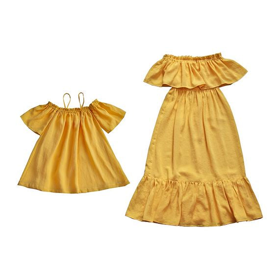 Rae Marigold Twinning Dress (90cm to Mama L)
