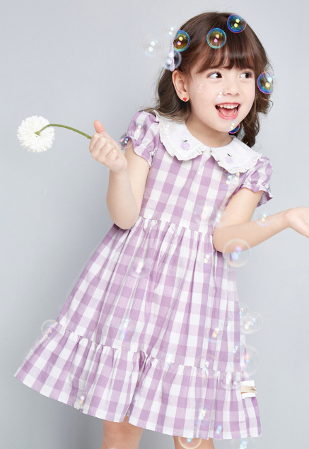 Gracie Gingham Dress (Up to 140cm)