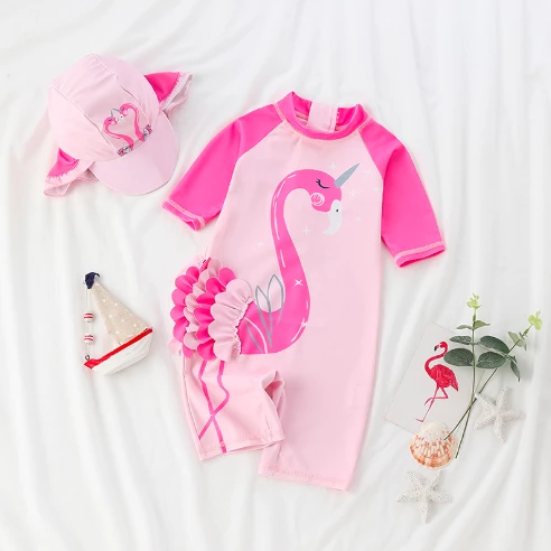 Pink Flamingo Rash Guard