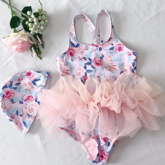 Roses Tulle Swimsuit (Up to 135cm)