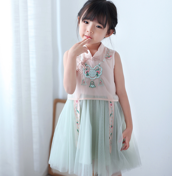 Ying Tulle Cheongsam (Up to 140cm)