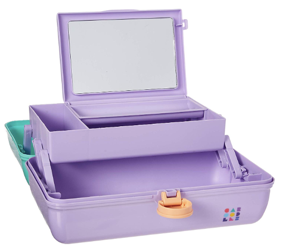 Princess Caboodles makeup case with Hair Clips