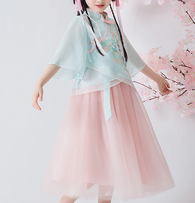 Ling Oriental Tulle Dress  (Up to 160cm)