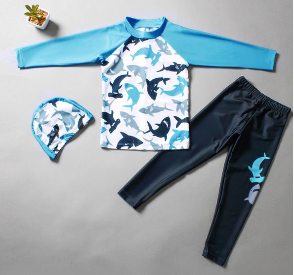 Shark Rash Guard Set - Premium (85 -150cm)