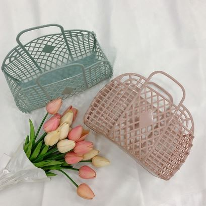 Simone Basket Bag - 5 Pastel Colors