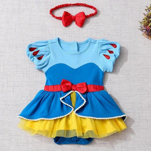 Princess 100% Cotton Romper Set (Snow White/ Little Mermaid/ Pink Rapunzel)