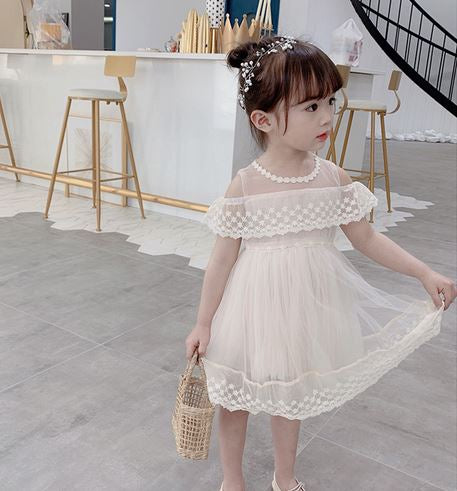 Vera Lace Dress -Lilac/ Cream (Up to 140cm)