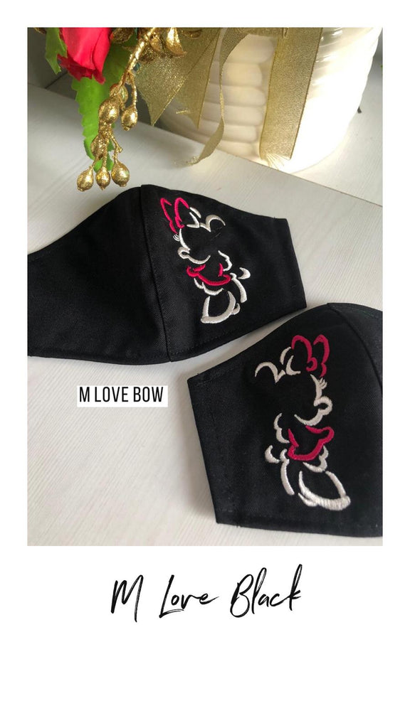 *Limited M Love PO Open | Delivery 8 June* - 100% Cotton Fabric Mask with Filter Slot - Adult/ Kid