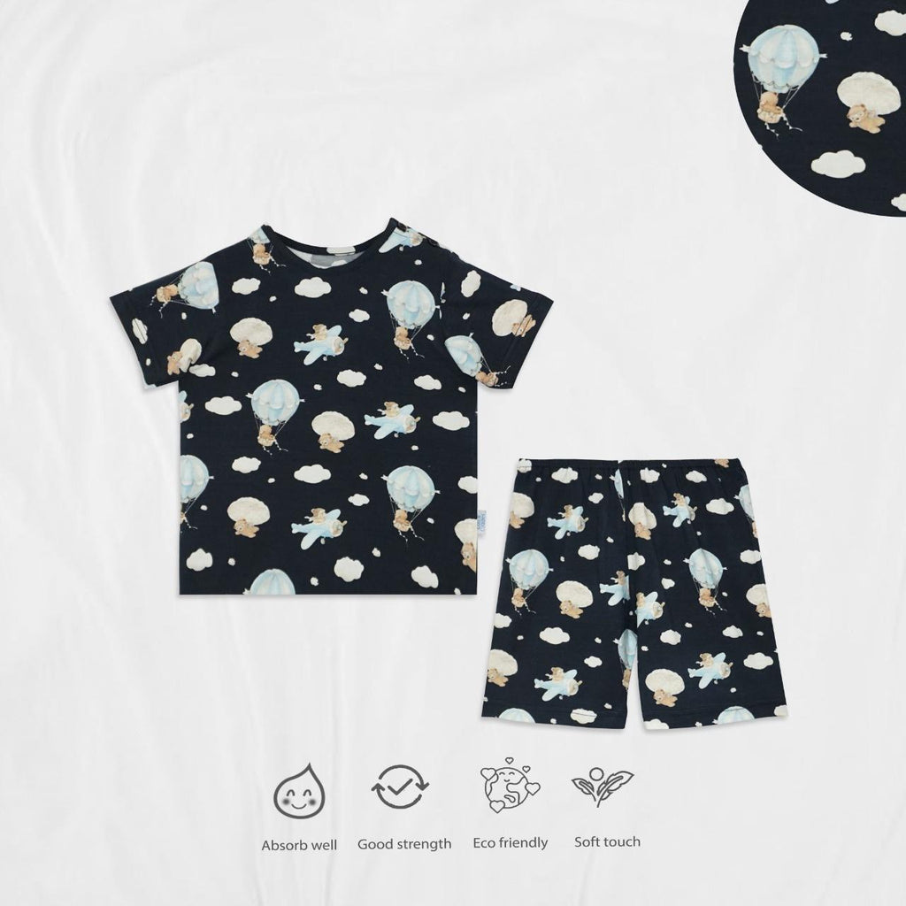 *NEW* CUDDLES Super Soft Tencel Shorts Set - Parachute Bear