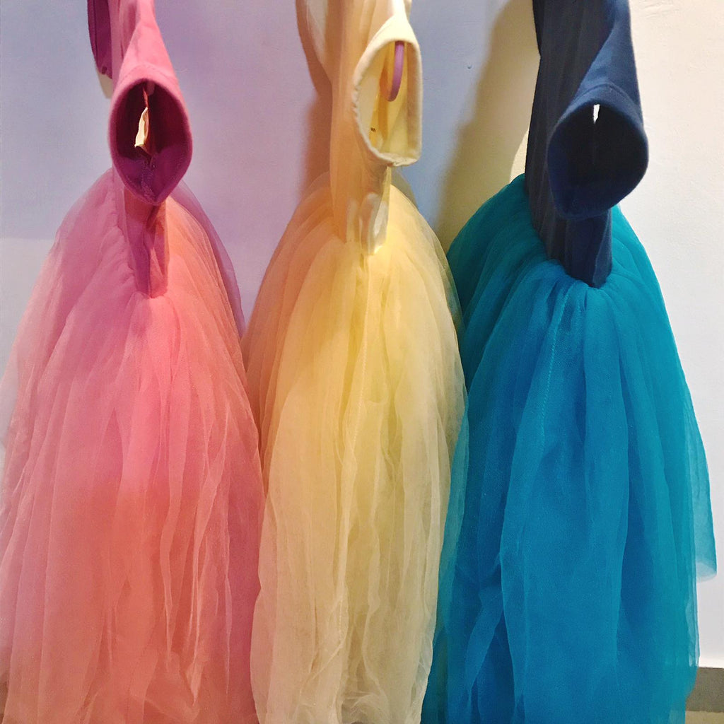Ballerina Tulle Dress (Dusty Pink/ Beige/ Frozen Blue)