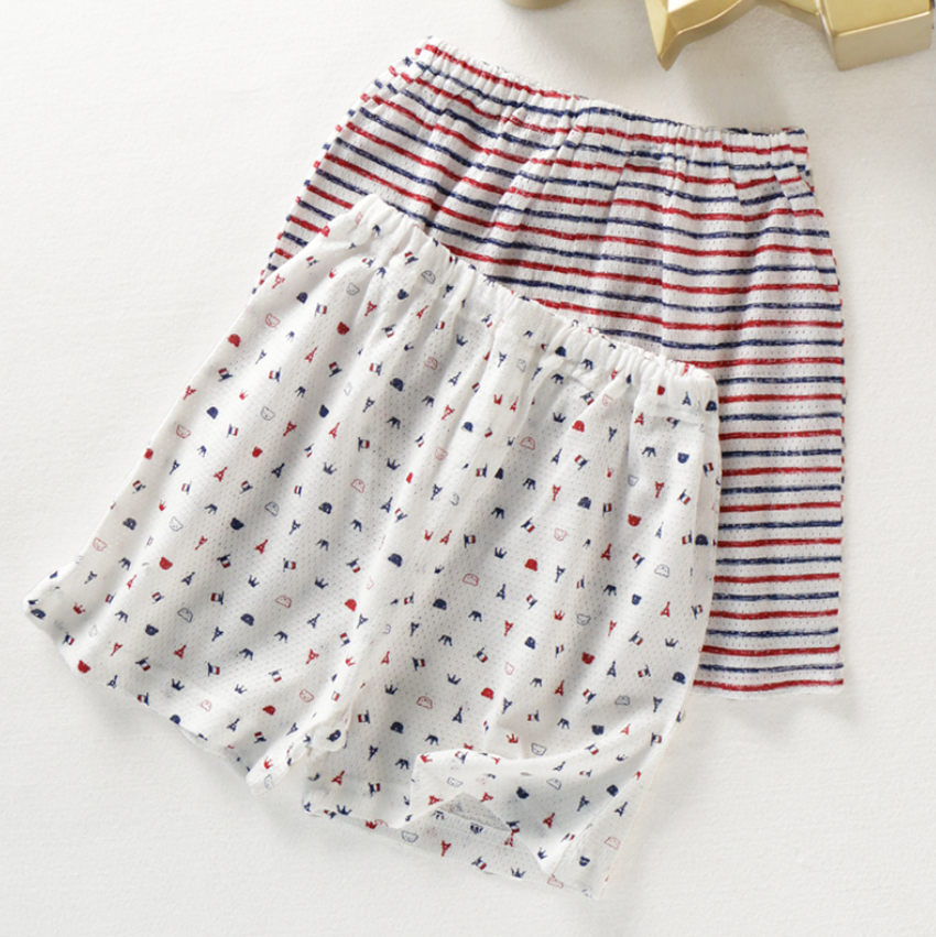 Petite Homewear - Bonjour Paris Shorts Up to 140cm  (Set of 2)
