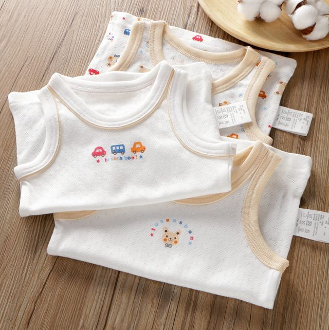 Petite Homewear - Car & Bear Singlet Up to 140cm (Set of 3)