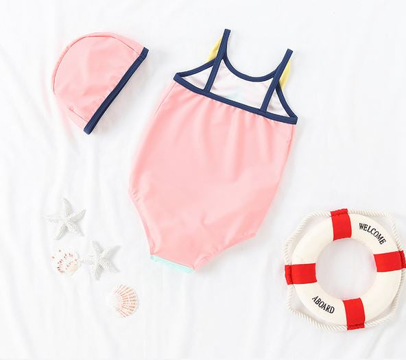Chirp Chirp Swimsuit + Cap (Up to 115cm)