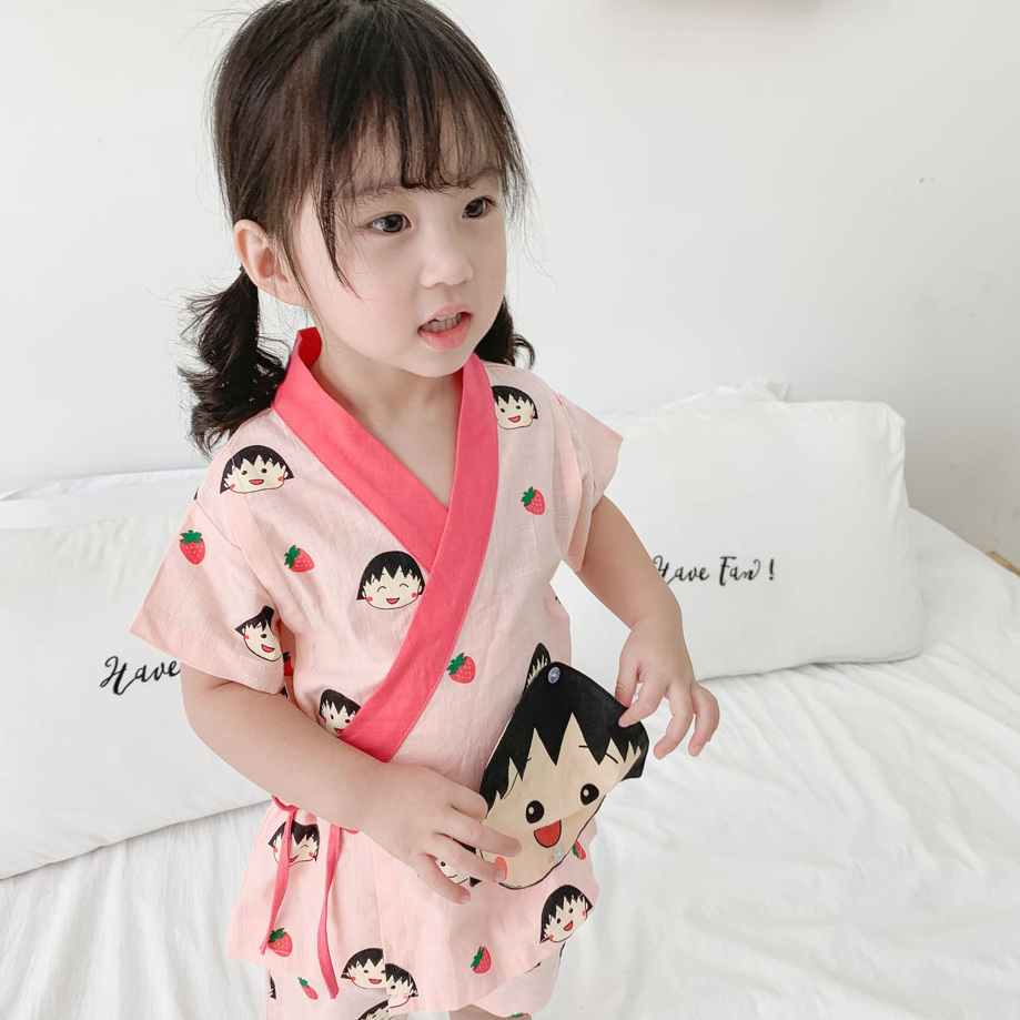 Petite Homewear - Playful Dolly Cotton Kimono (up to 140cm)