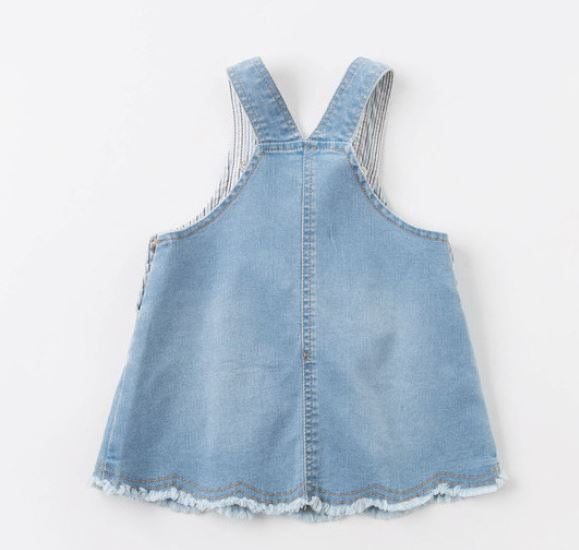 Honeybee Denim Pinafore (Up to 130cm)