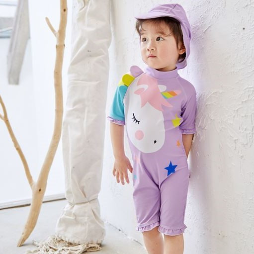 Lilac Unicorn Swimsuit (Up to 125cm)