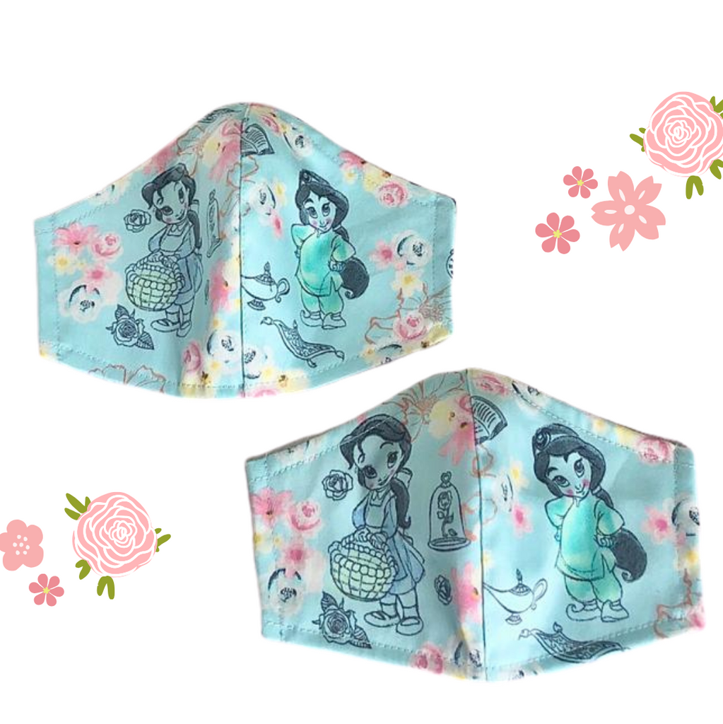 Limited Princess Dreams 100% Cotton Fabric Mask- *INSTOCK*
