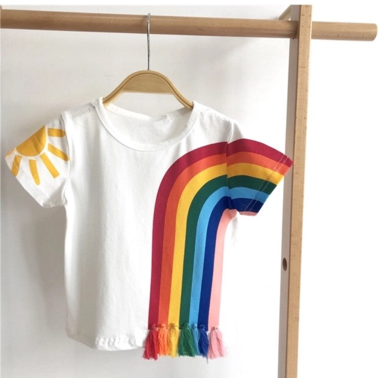 Rainbow 100% Cotton Tee (Up to 120cm)