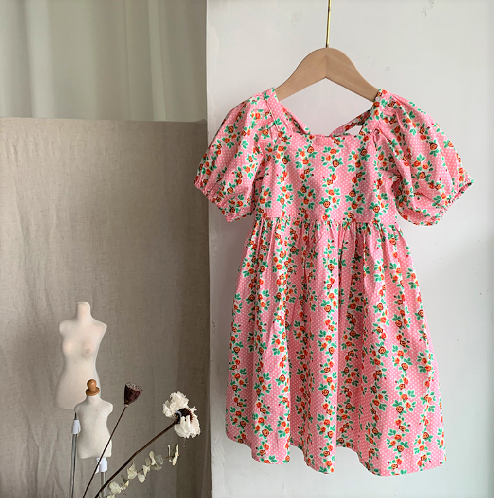 *New Arrival* Rose Garden Floral Dress (Up to 150cm)