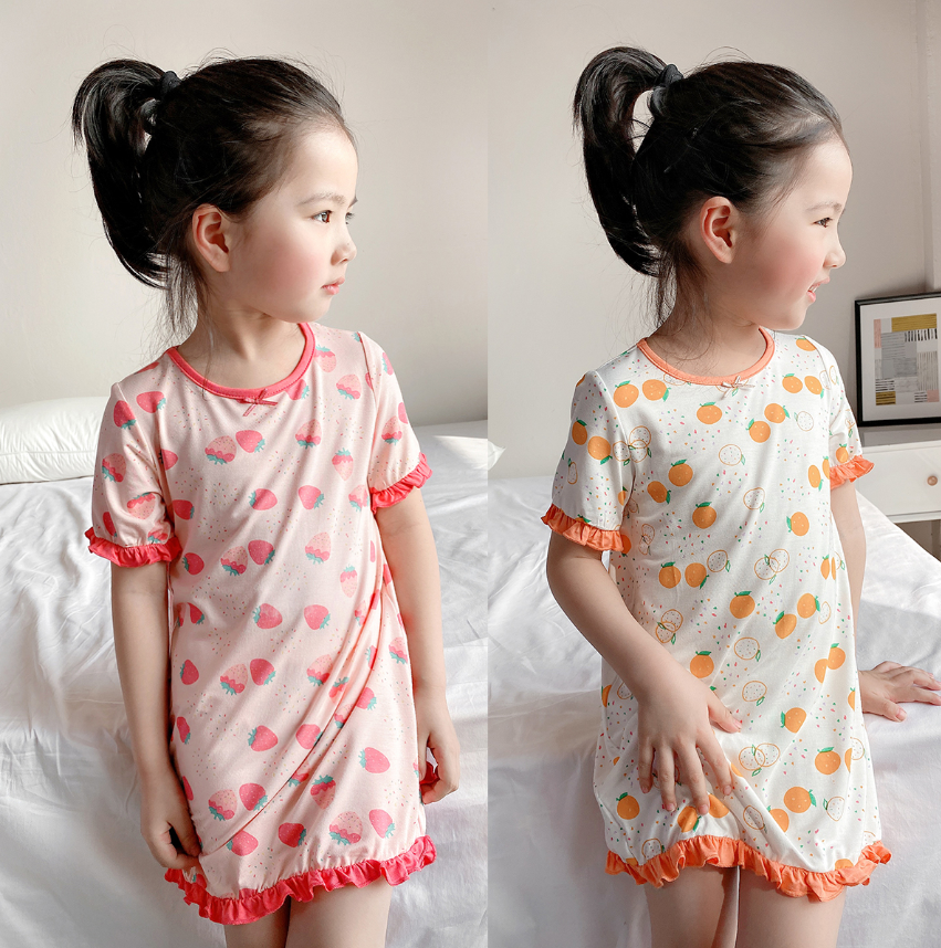 Petite Homewear - Fruity Fairy Cotton Dress (Up to 140cm)