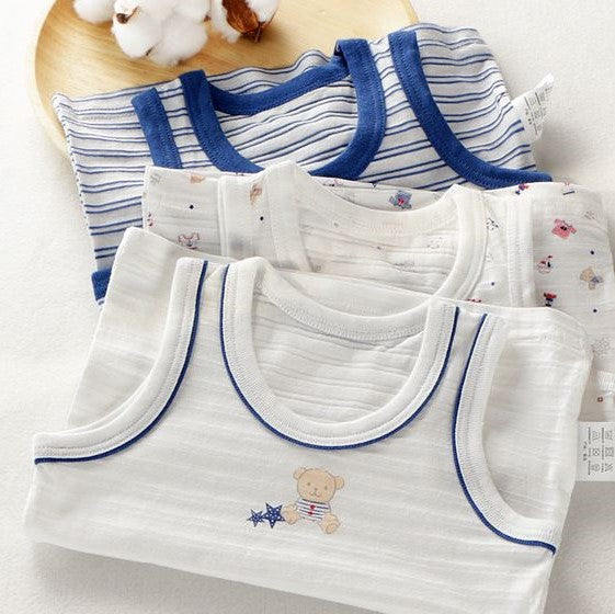Petite Homewear - Teddy Bear Singlet Up to 140cm (Set of 3)