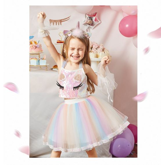 Unicorn Skirt Set (Blouse/ Halter) - up to 150cm
