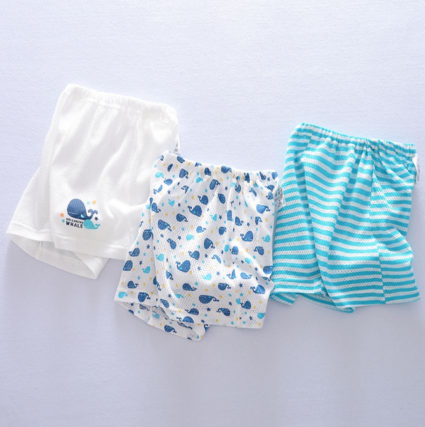 Petite Homewear - Aqua Whale Shorts Up to 140cm  (Set of 3)