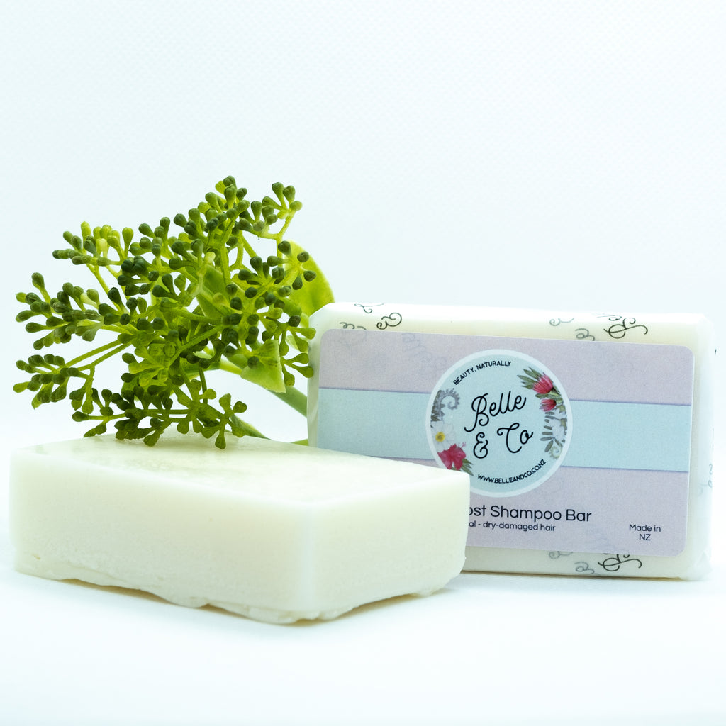Shine Boost Soap Free Shampoo Bar - Shampoo - BelleandCo.co.nz - Belle & Co - plastic free beauty - organic beauty