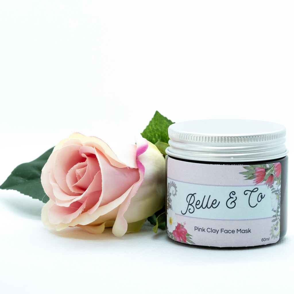 Pink Clay Face Mask - face mask - BelleandCo.co.nz - Belle & Co - plastic free beauty - organic beauty