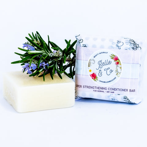Super Strengthening Solid Conditioner Bar - Shampoo - BelleandCo.co.nz - Belle & Co - plastic free beauty - organic beauty