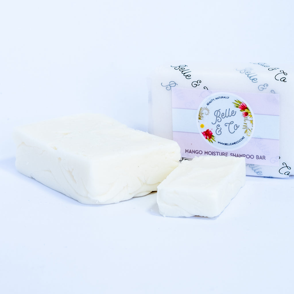 Mango Moisture Soap Free Shampoo Bar - Shampoo - BelleandCo.co.nz - Belle & Co - plastic free beauty - organic beauty