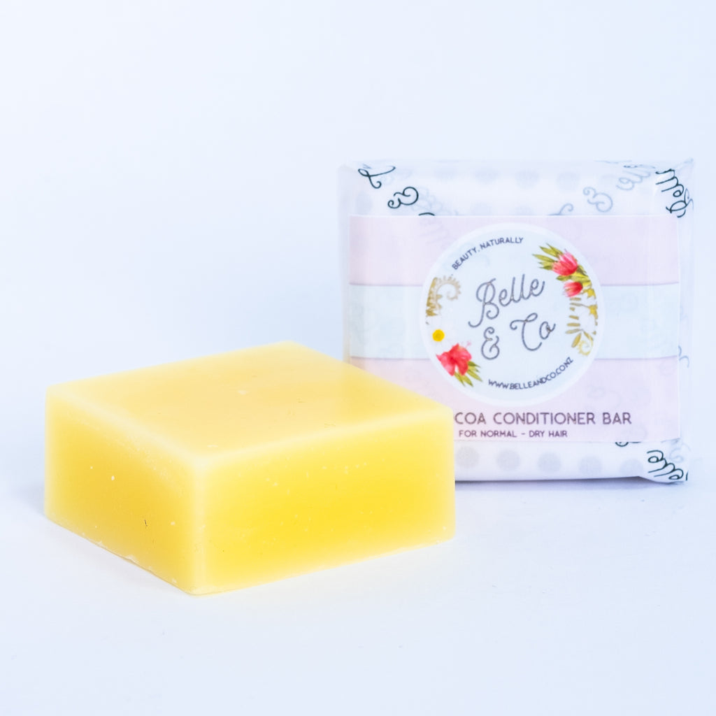 Rich Cocoa Solid Conditioner Bar for normal - dry hair - Hair - BelleandCo.co.nz - Belle & Co - plastic free beauty - organic beauty