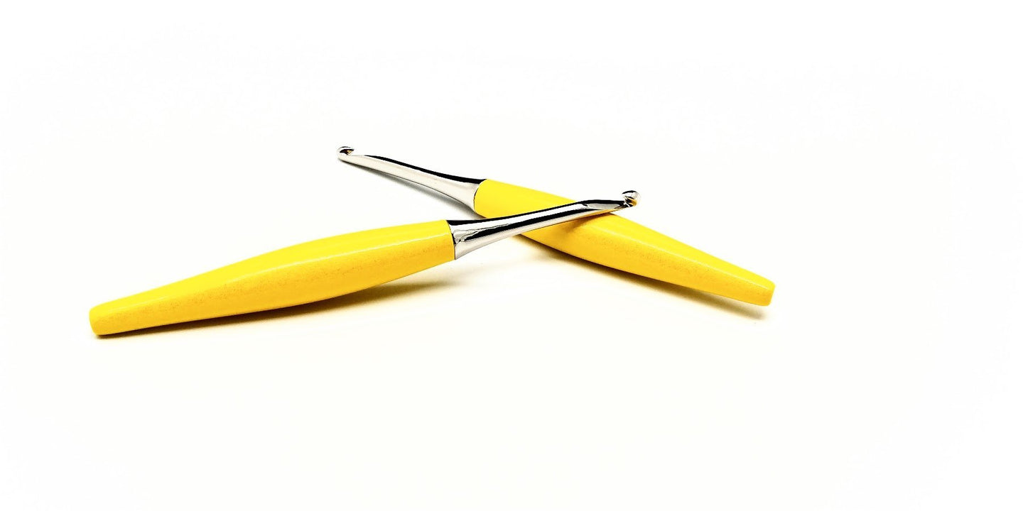 Odyssey Crochet Hooks - Yellow (Choice of finish)
