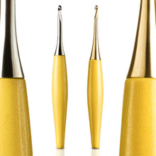 Load image into Gallery viewer, Odyssey Crochet Hooks - Yellow (Choice of finish)