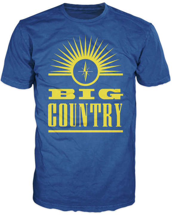 Iconic Big Country Logo T Shirt in Royal Blue and Yellow