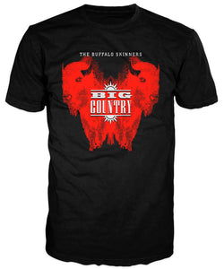 Big Country Buffalo Skinners Black and Sunset Red T shirt