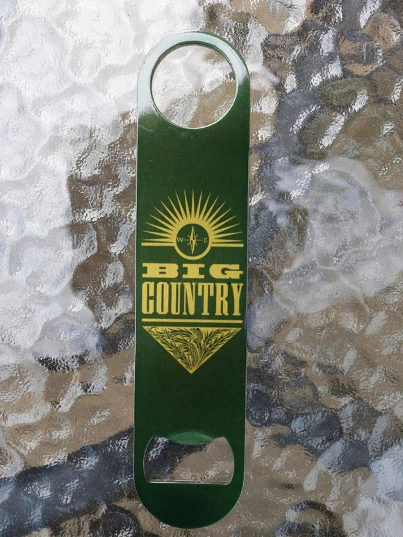 Green/Gold Metal  Bar Blade/Bottle Opener