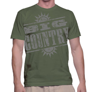 Sage Green Distressed Logo T shirt
