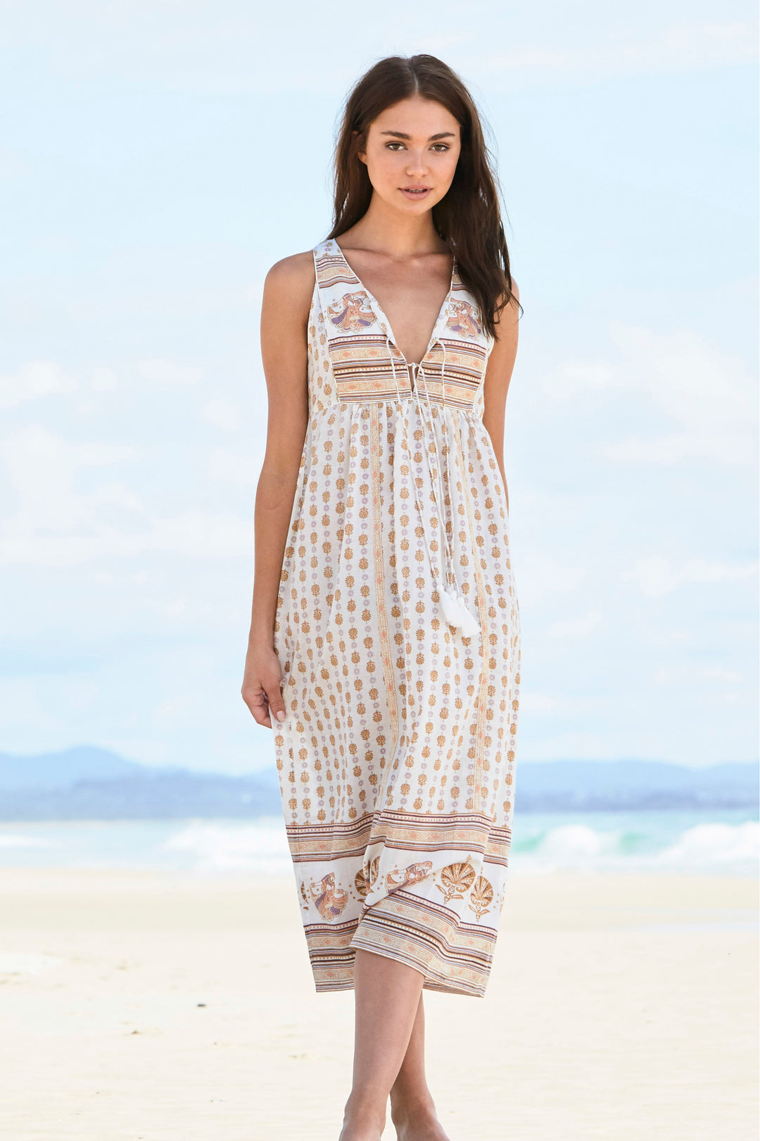 boho white summer maxi dress foundling
