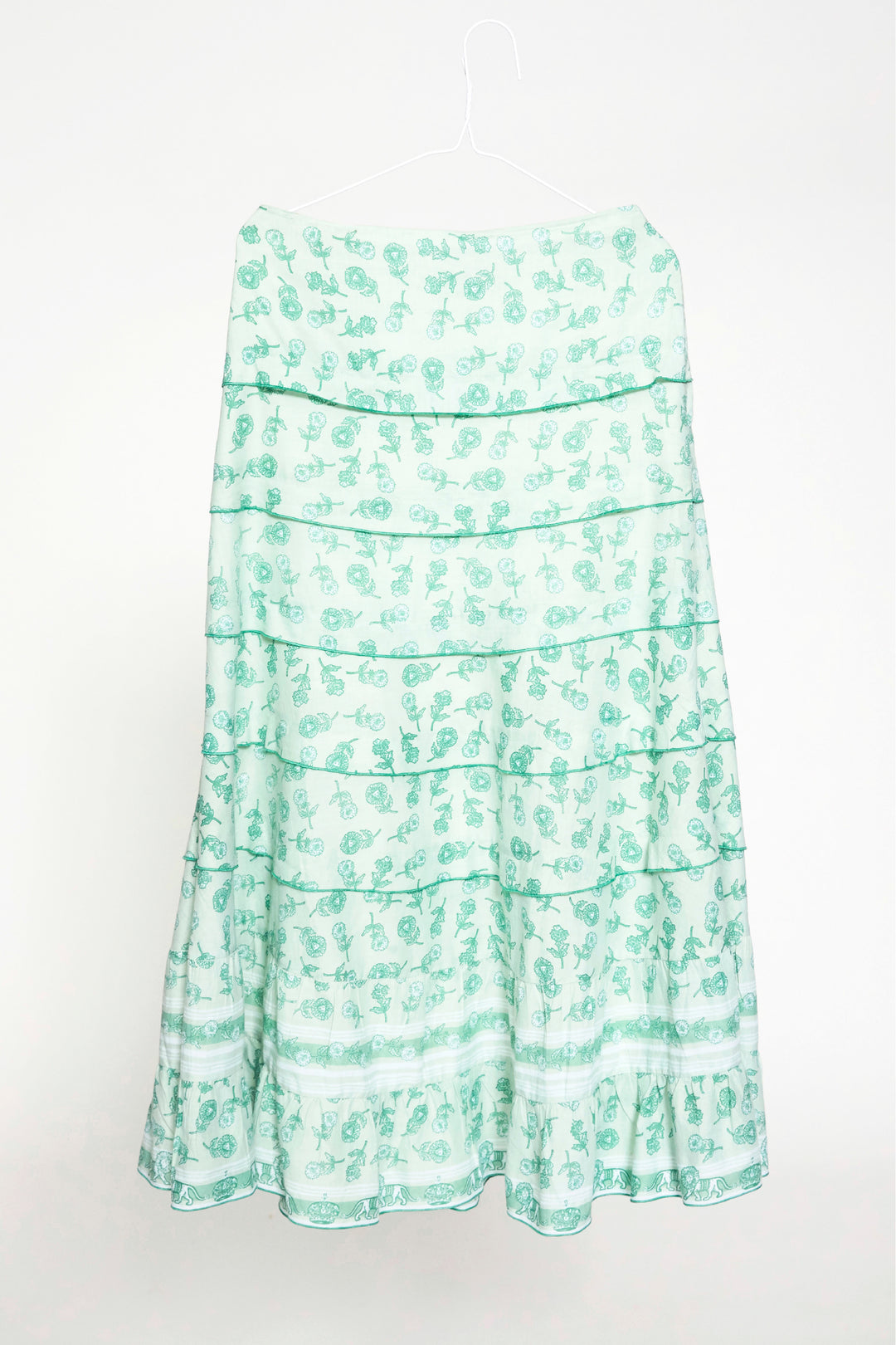 mint green dandylion cotton ruffle skirt foundling