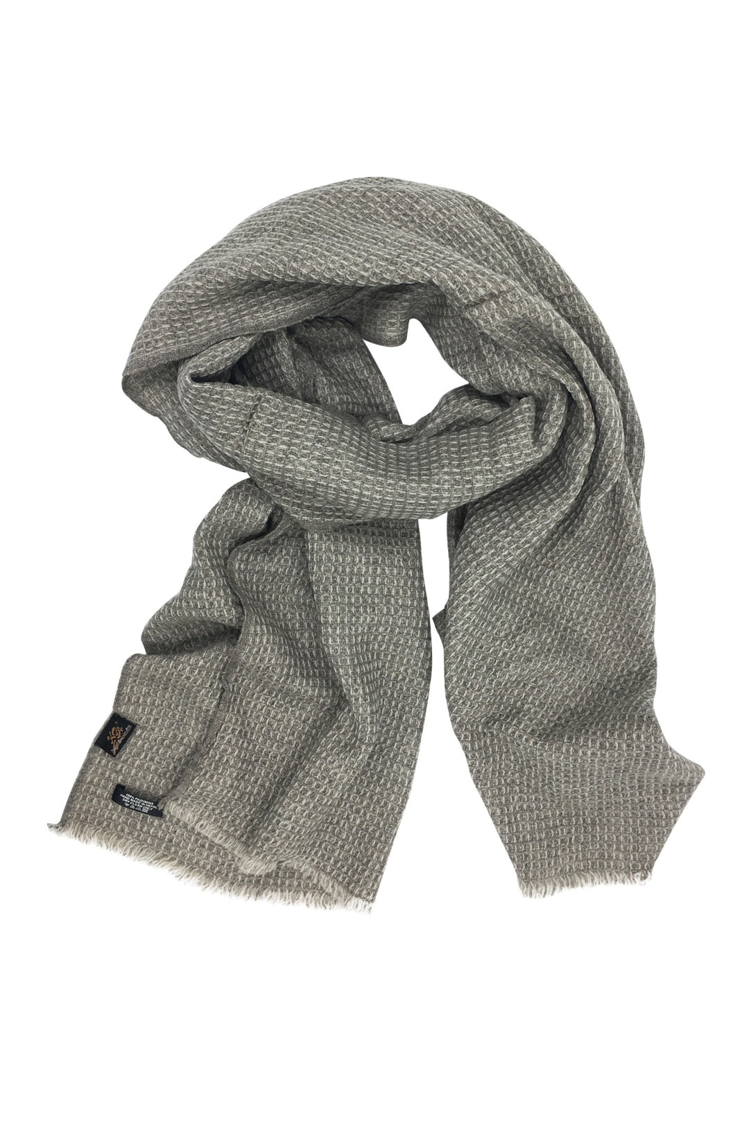 Cashmere hand woven waffle wrap